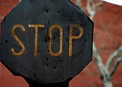 don't go any further (desertgirl) Tags: old newyorkcity nycpb sign grunge rusty stop stopsign streetsigns filth dilapidation octagon
