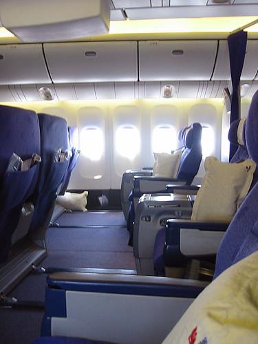 Comodidad en los aviones de Air China