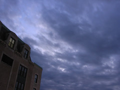 Old Marshall Fields Building (Rhino and Bird) Tags: sky night clouds marshallfields oakpark