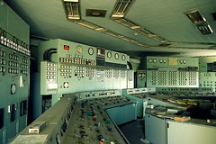 Control Room (Chris Hoare) Tags: toronto ontario colour green abandoned aqua technology control room shift nuclear powerplant coal 1980
