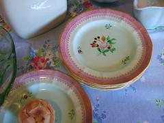 50p Plates! (Vintage Pleasure) Tags: vintage treasure thrifted