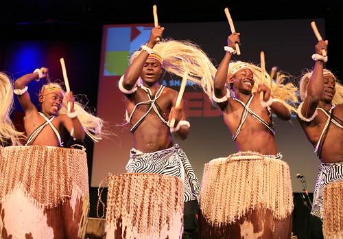 African men in flow
