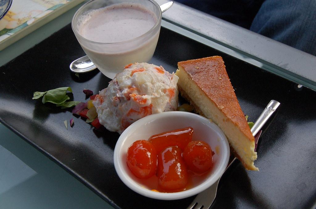 Cheesecake and Potato Salad