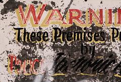 perimeter (helveticaneue) Tags: warning typography march alley pennsylvania decay 2006 harrisburg flickrmeetup centralpa march2006 centralpennsylvania hfmug kicey laurakicey