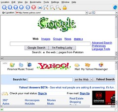 Yahoo copying Google's Doodle style