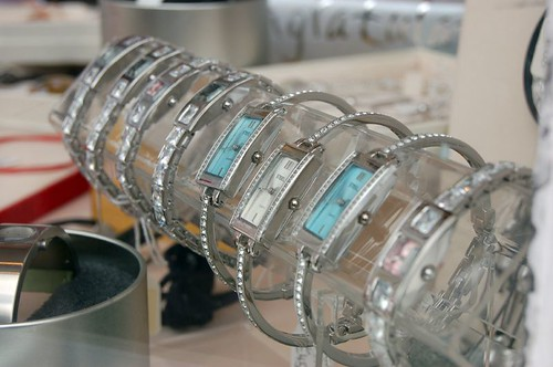 Watch display in shop window