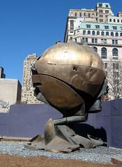 Half Globe, Half Fist (NYC Comets) Tags: nyc newyorkcity sculpture ny newyork memorial manhattan worldtradecenter batterypark sphere september11 koenig