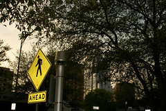 Ahead (worksology) Tags: ahead sign pedestrian sxsw sxswi sxswi2006