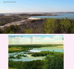 Lake Worth TX dam and spillway (Country Squire) Tags: lake texas dam tx postcard fortworth spillway afb carswell lakeworth casinobeach