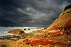 Gay Head Cliffs, Martha's Vineyard, Massachusetts (Thad Roan - Bridgepix) Tags: ocean storm beach topf25 water topv111 clouds ilovenature island rocks surf waves capecod cliffs resort marthasvineyard geology lovely creamofthecrop massachusets oakbluffs aquinnah gayhead 444v4f gayheadcliffs vineyardhaven neninvite