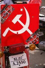 Red Flag (David Wilmot) Tags: travel red india holiday photo asia political kerala communist marxist hammerandsickle subcontinent fortcochin