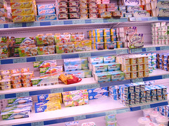 Paris Monoprix Dairy section