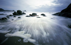 Unknown Beach, 25 seconds (Zeb Andrews) Tags: longexposure sunset seascape color 120 film nature water beautiful oregon wow mediumformat wonderful landscape coast amazing cool fantastic waves great 100v10f fujireala pinhole pacificocean 2550fav 50100fav stunning pacificnorthwest zeroimage zero69 interestingness41 i500 1000v40f bluemooncamera explore28march2006 zebandrews zebandrewsphotography