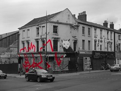 Banksy (_nod) Tags: uk red england urban liverpool graffiti rat banksy spraypaint