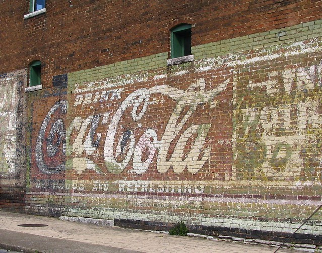 Faded Coca-Cola sign