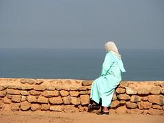 Moroccan Lady and the Atlantic, Rabat  الرباط (chrisflyer) Tags: africa landscape fz20 sale muslim islam atlantic arabic morocco berber maroc moorish moor marruecos islamic rabat chrisflyer morokko الرباط