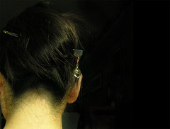 simple kanzashi (yewco) Tags: selfportrait me butterfly hair neck hongkong head  yuko accessory kanzashi yewco