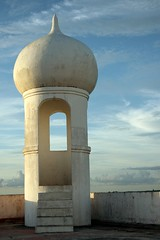 torre (Farl) Tags: travel blue sky orange building window architecture clouds minaret muslim philippines capitol dome government sulu portals mindanao tawitawi bongao