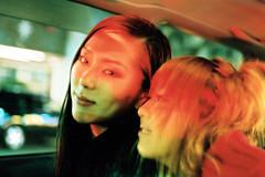 cruising (colodio) Tags: girls friends red portrait green girl car fashion japan night movie rouge japanese tokyo asia cruising clubbing idol 日本 nippon roppongi 東京 asie superia400 japon trg giappone yukie akemi japonais 六本木 赤い 4501 shibuyette 030108b34ayr colodio fuji4501
