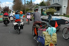 Puppet parade bike move