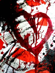bleeding heart (bynini [slightly away]) Tags: red black collage blood micro heartbleedingheart