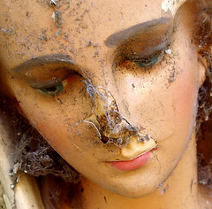 Shattered icon (cattycamehome) Tags: broken face statue tag3 taggedout eyes doll tag2 all tag1 mask decay mary  icon lips virgin dirt rights damaged shattered dummy reserved cracked cobwebs catherineingram cattycamehome allrightsreserved