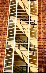 stairs (markette) Tags: windows london architecture 1930s bricks staircase deco upwards