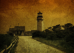 To the lighthouse (IrenaS) Tags: lighthouse painterly texture photoshop vintage capecod painted aged antiqued irenas