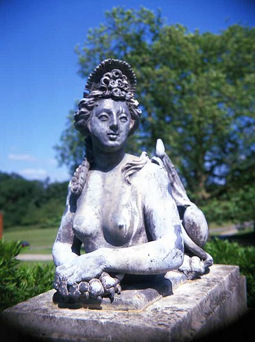 Sphinx Statue In Trent Park, London