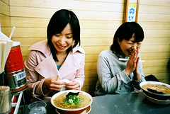 time for ramen (* tathei *) Tags: city travel girls people japan friend kyoto time natura ramen fujifilm kansai iso1600 lifeinjapan classica