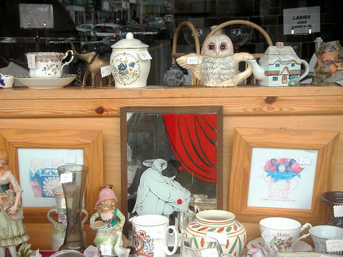 Charity Shop Kitsch Window Display, from World of Oddys photostream under Creative Commons. Click pic for link.