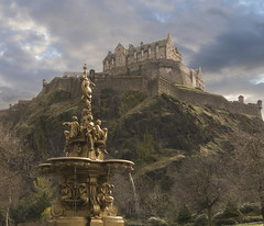 Ross Fountain & Edinburgh Castle (JuanJ) Tags: uk england castle art water fountain tag3 taggedout photoshop lumix scotland interestingness edinburgh europe tag2 tag1 cs2 unitedkingdom accepted1of100 been1of100 panasonic fz fz30 notpicked 84points interestingness48 mireasrealm i500 123faves explore18apr06 judgmentday62 challengeyou challengeyouwinner virgiliocompany