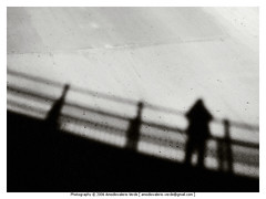 Self Portrait In Shadow (Amodiovalerio Verde) Tags: street bridge shadow portrait bw selfportrait standing blackwhite ombre suggestatag addanote