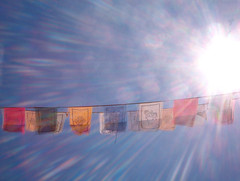 Buddhist prayer flags (todderick42) Tags: sun buddhist prayer religion flags string buddhistprayerflags