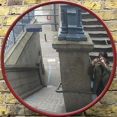 mirror (Yersinia) Tags: uk greatbritain england selfportrait reflection london public towerbridge reflections geotagged se europe unitedkingdom britain eu explore arr gb squaredcircle bermondsey safe guesswherelondon londonguessed southlondon southwark se1 faved travelcard londonset londonbylondoners southoftheriver interestingness370 zone1 photographical yersinia postcoded londonpool guessedbysarflondondunc gwl2006 casioexz110 postedbyyersinia guessedinone geo:lat=51504105 londonreflections inygm geo:lon=0076126 squaredcircleset southlondonpool se1set selfportraitsnothouseholdobjects staircasesandsteps towerbridgeset southlondonset southwarkpool londonreflectionspool londonreflectionsset gwlg londonboroughcollection