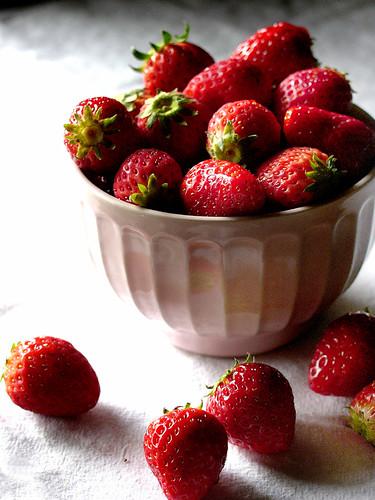 strawberries, slightly closer.