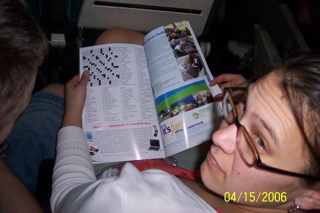 On the flight to Tortola