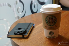 Starbucks makes me feel better! (Steve Webel) Tags: moleskine coffee cafe minolta starbucks lifehacker maxxum5d dynax5d webel