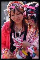 Harajuku Up & Close (ajpscs) Tags: street people japan japanese tokyo nikon cosplay streetphotography harajuku  nippon  d100 workit  wildhair   superlovers tokyostreets pedestrianparadise designit ajpscs liveit streetsofharajuku harajukugirlsyougotthewickedstyle ilikethewaythatyouare japanesefashionscene expressit commandyourstyle createit subcultureinakaleidoscopeoffashion hangingwiththelocals watchingatyougirls