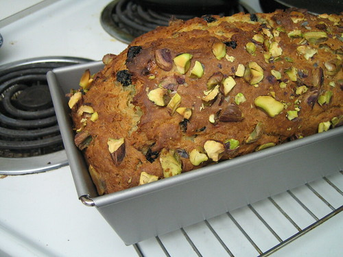 Improved Pistachio Blueberry Banana Bread