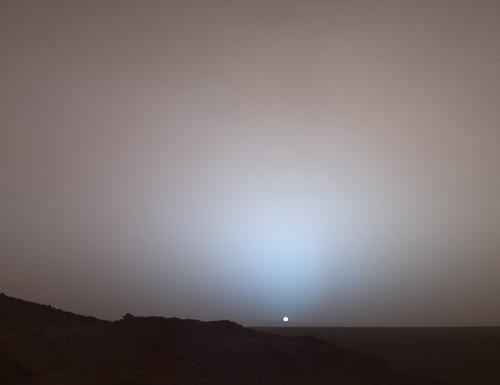 Thumb Puesta de Sol en Marte desde el Spirit