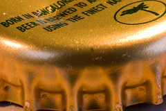 dented (*Hairbear) Tags: macro beer canon cobra 300d crown extension canon50mmf18 bankholiday lager sundayafternoon kenko kenkoextension tubestubebottletopbottletop