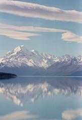 Aoraki - Mount Cook (AndrewNZ) Tags: newzealand reflection topv111 clouds topv555 topv333 topv444 topv222 lakepukaki mountcook aoraki interestingness379 i500 explore02may06