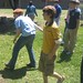 Bocce in geography class at Caddo Magnet High, Shreveport: Eli McClean, Tyler Krieg, Adam West, James Storer