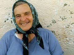 Portraits from Banat (AIeksandra) Tags: woman smile portrait old color ferdin kozjak kosovo serbia serbian slavs slavik slav east rural bleu azul blue