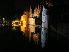 Belgio2004-1 (Felson.) Tags: holiday reflection water night belgium dream bruges notte canale belgio riflesso sogno canali fliume
