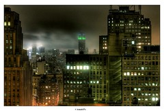 Night over the City (Arnold Pouteau's) Tags: nyc newyorkcity newyork night clouds manhattan midtown esb tribeca outsidethewindow hdr f25 50ms