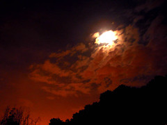 Tehran Night Sky 2 (Hamed Saber) Tags: red sky cloud moon black tree night clouds geotagged persian interestingness iran balcony persia saber iranian tehran  hamed  farsi      flickrexplore
