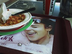 Yesterday I ate lunch on Lindsay Lohan's Face.