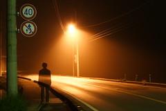 Shadow (mrhayata) Tags: road light shadow japan night geotagged profile 日本 道路 電線 tochigi オレンジ 街灯 影 夜 シルエット 栃木県 照明 kanuma 栃木 標識 電柱 プロフィール geo:lat=365079808 geo:lon=1397054944 mrhayata 西方町